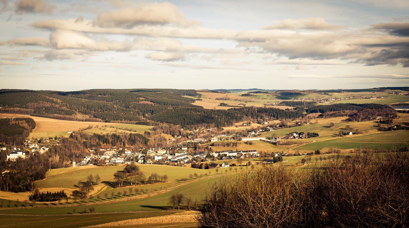 Landschaft mit einem Normalobjektiv fotografiert