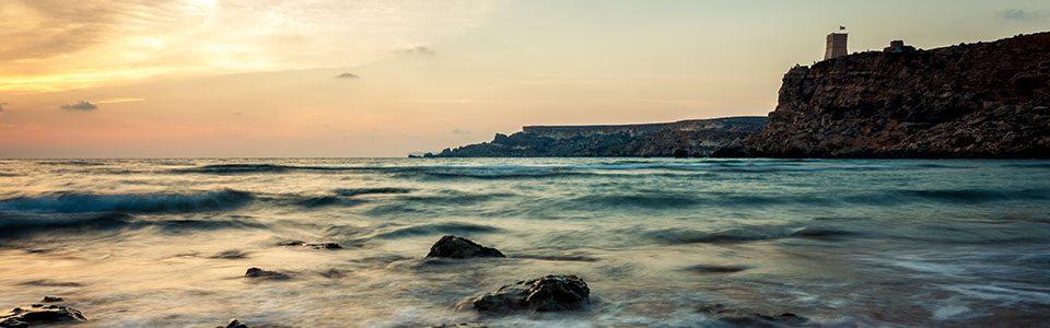 Fotografie Tipps in Bildern - kurze und lange Belichtungen - Malta Strand Meer